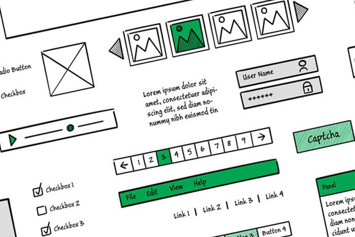 Illustration of a website wireframe